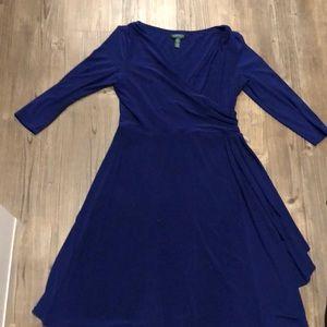 Ralph Lauren royal blue dress size 12